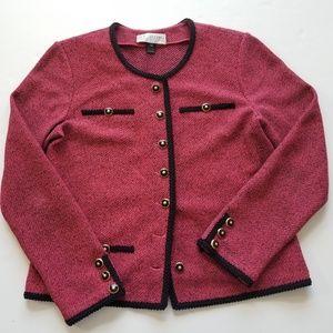 St John Santana knit skirt suit set Size 12